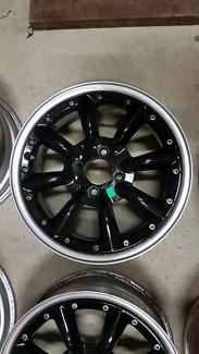 "Genuine set SSR Watanabe RS8 15"" 4x100 old school jdm wheels rims"