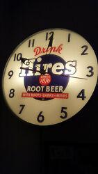 Vintage Looking Hires Root Beer Pam Clock!