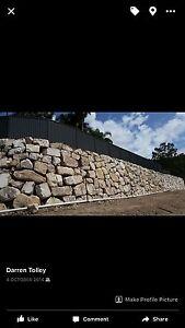 Dig it constructions Rock and Boulder walls Maudsland Gold Coast West Preview