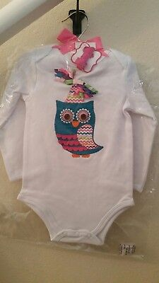NEW Mud Pie Owl Crawler w/ Hair Clip #1 1st Birthday, Size 9-12 Months - Owl 1st Birthday