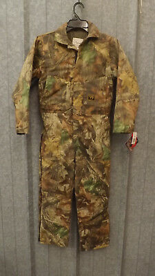 19747c7032b26 New WALLS Realtree Advantage Timber Camouflage Insulated Coveralls sz YOUTH  14