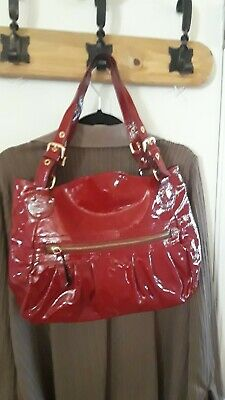 Red Patent Leather Purse Bag Made In Italy By INNUE