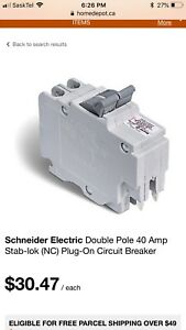 Looking for 40 amp 2 pole breaker.