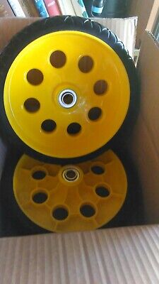 2 Pack 10 Inch Flat Free Forever Wheels For Hand Trucks Low-profile No Wiggle