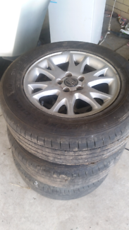 Volvo xc 70 mag wheels with tyres 215 65 16 wrecking volvo