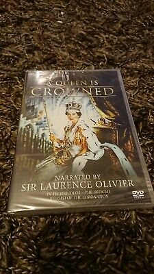A Queen is Crowned - Narrated By Sir Laurence Olivier (DVD 2013) NEW AND SEALED