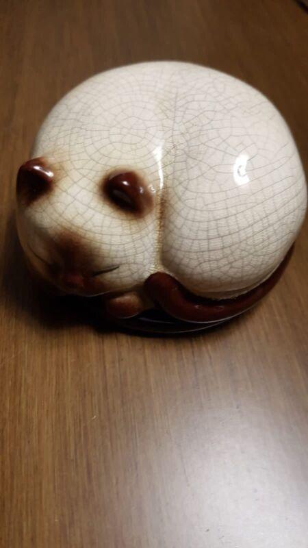 Takahashi Porcelain Sleeping Cat