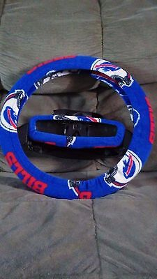 BUFFALO BILLS LIGHT BLUE FLEECE STEERING WHEEL COVER SET clearance sale