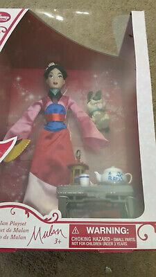 Disney Mulan Tea Set Doll Set Pet Dog Brother Barbie Princess Playset NEW