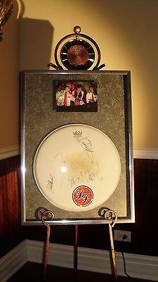 FOO FIGHTERS AUTOGRAPHED / SIGNED DRUMHEAD - NOTHING LEFT TO LOSE RECORDING!