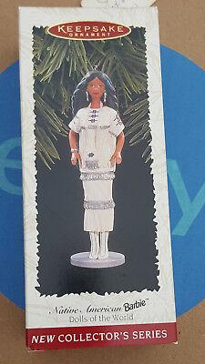 - 20923a HALLMARK Keepsake Christmas Ornament Barbie Native American in Box