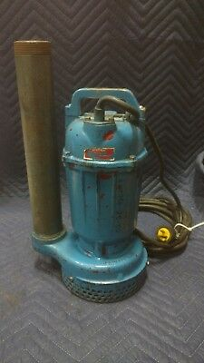 Used Submersible Trash Water Pump Similar Tsurumi. 2 12hp 3440rpm