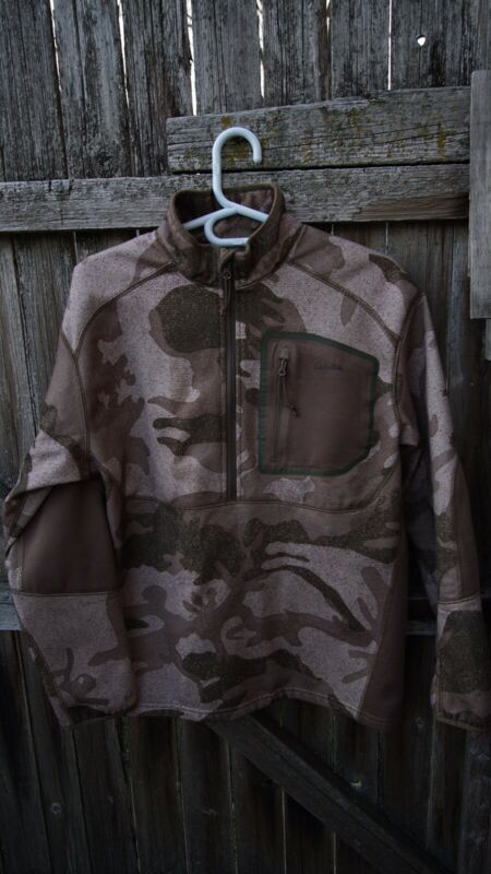 Cabelas Camo Merino Wool Hunting Jacket Sweater