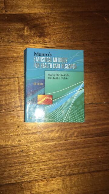 Munros Statistical Methods for Health Care Research