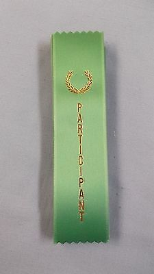 PARTICIPANT green ribbon with gold foil letters lot of 25 wreath](Participant Ribbon)