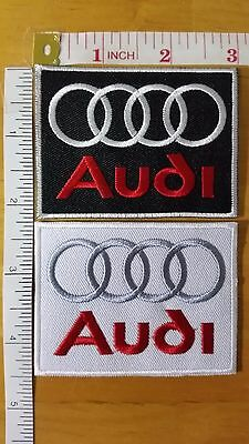 Audi Embroidered Iron On Patch Embroidery Emblem Logo German High quality