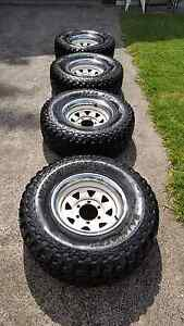 Mickey Thompson 31 10.5 r15 4x4 4wd tyres on rims as new East Branxton Cessnock Area Preview