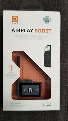 (XtremeMac Airplay Boost Wireless FM transmitter for ipod nano 2nd gen)