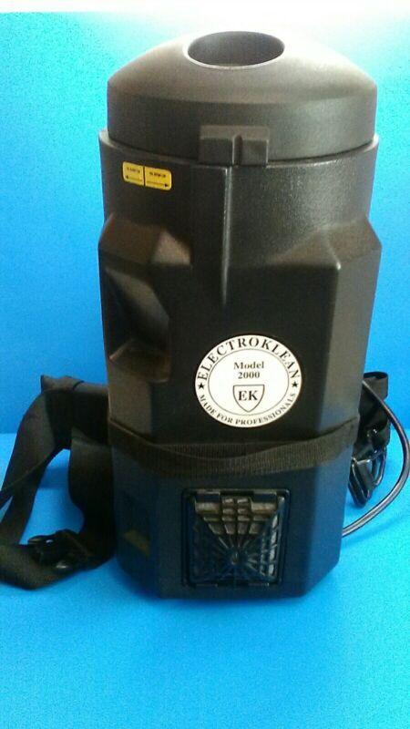 Electroklean 2000 Hepa Backpack Vacuum No Hoses