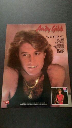 "ANDY GIBB  "" DESIRE ""  1980  RARE ORIGINAL PRINT PROMO POSTER AD"