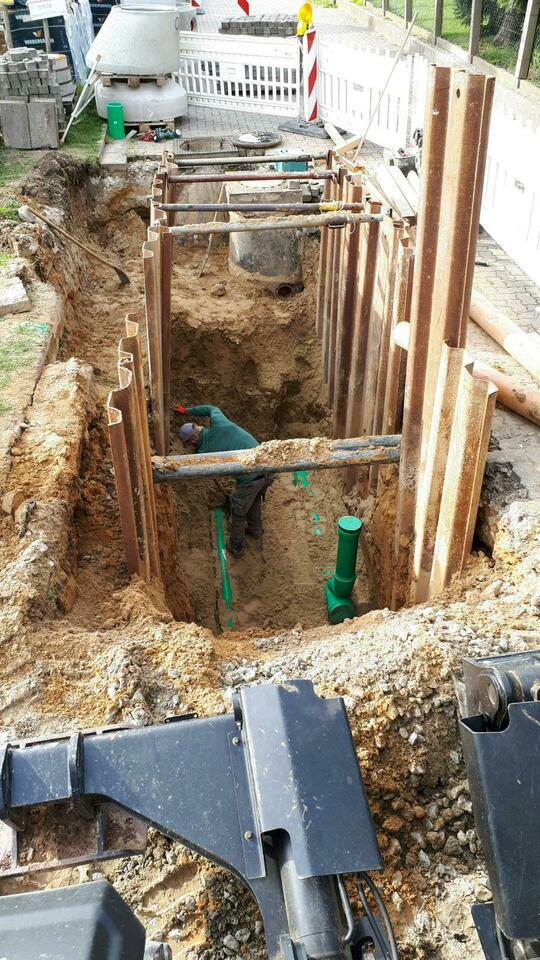Kanalbau Kontrollschacht Fundamente Baugruben Baggerarbeiten in Nordrhein-Westfalen - Lübbecke