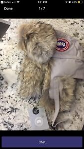 Brand new canada goose aviator hat. L XL. abdb0902bb06