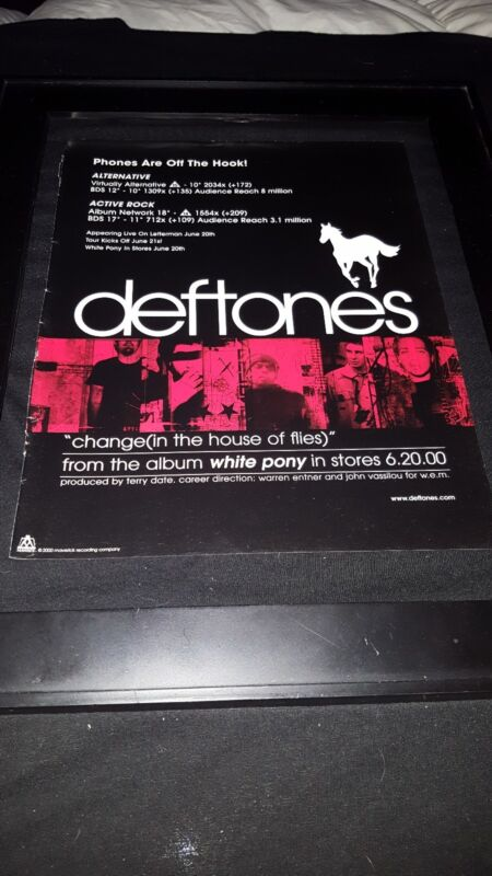 Deftones Change In The House Of Flies Rare Original Radio Promo Poster Ad Framed