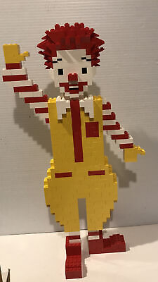"""LEGO Collectible Ronald McDonald Store Display Vintage Figure 18"""" complete BOX"""