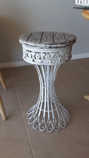 ORNATE WROUGHT IRON TABLE