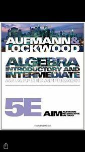 Algebra textbook for pre health Mohawk college  Cambridge Kitchener Area image 1