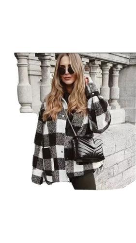 Surchemise a carreaux style za noir et blanc