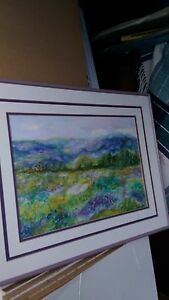 Local artist paintings at estate sale.