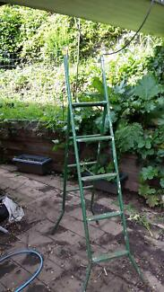 Folding steel ladder (2.6 m when extended)