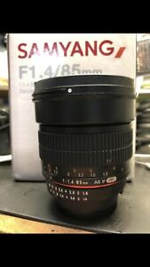 Samyang 85mm f1.4 for Nikon