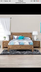 Silver wood double bed Craigieburn Hume Area Preview
