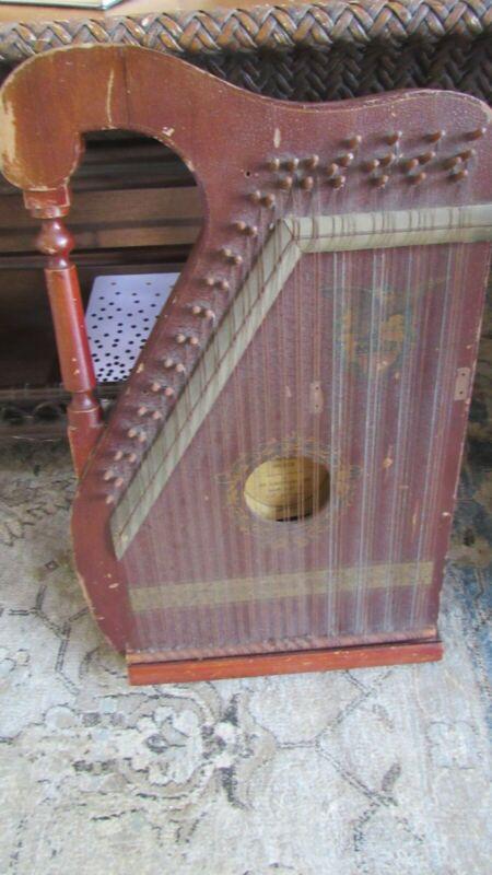 Antique Chartola Grand Autoharp/Mandolin