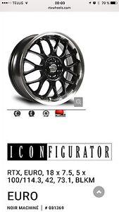 Mags/jantes/pneu  RTX EURO 18 pouces avec pneu