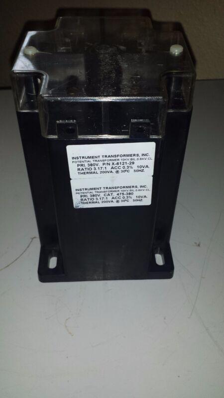 Instrument Transformers Inc Potential Transformer X-6121-29, 475-380