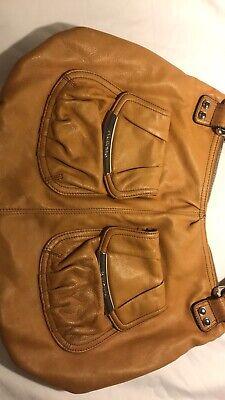b makowsky Tan Mustard Large leather handbag