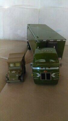 Disney Pixar Cars Diecast Rare Lot Original Gil Green Hauler Semi Truck & Sarge