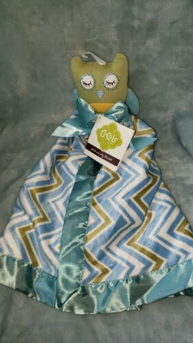 New CoCaLo Plush Security Lovey Blanket Green Blue Owl - $29.99