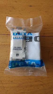 """Deta G3562 20 amp Double Pole Grid Switch marked """"FRIDGE / FREEZER"""""""