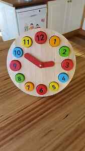 Wooden Teaching Clock Brighton Brighton Area Preview