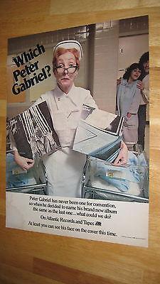 PETER GABRIEL '78 original magazine poster ad promo record LP