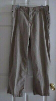 Dickies Men's Slim Straight Fit Poplin Work Pant  WP805 DS Khaki 32 x 30 Poplin Work Pants