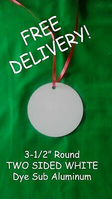 3.5 Round Aluminum Dye Sublimation Christmas Ornament Blanks 0.75ea Delivered