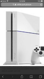 Wanted white ps4 broken