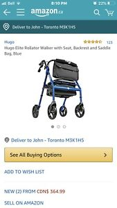 Hugo Elite Rolling Walker with Seat new