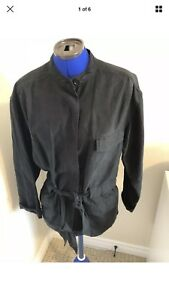 New Aritzia Wilfred Black Linen Tie Waist Fall Jacket Size M
