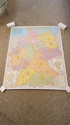 Stiefel Postleitzahlenkarte Deutschland - PLZ Wandkarte / Karte
